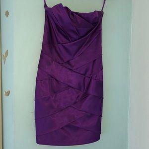 Strapless Purple formal mini/mid dress